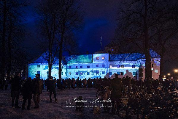 Suomi 100v ja Turun Linnan juhlavalaistus