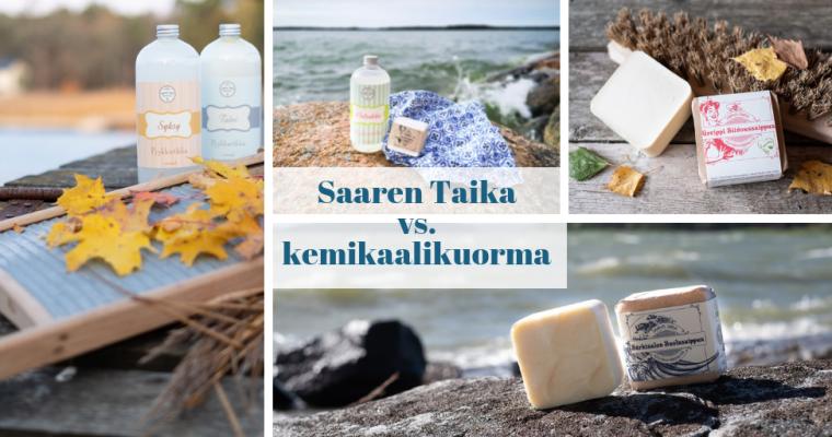 Saaren Taika on kolmen sukupolven naisten tunne, tietotaito ja kokemus luonnollisesta puhtaudesta, ihon- ja kodinhoidosta perinteisin menetelmin, kemikaalikuormamme vähentämiseksi, miesnäkökulmaa unohtamatta